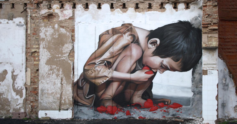 Banksy estuvo en Huelva - Pure love