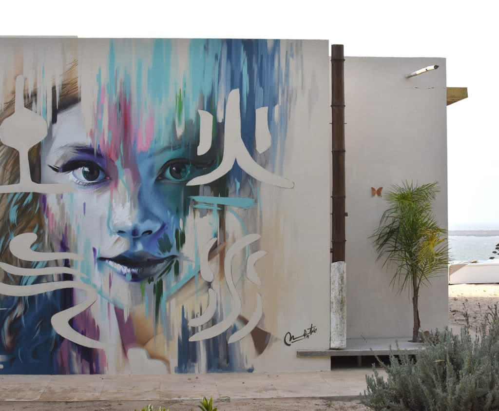 graffiti en la playa