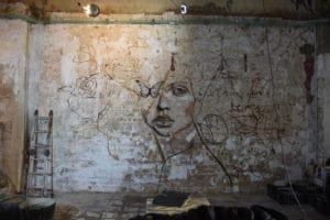 detalle del proceso del graffiti
