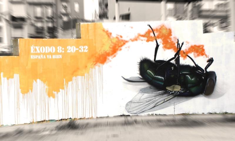 graffiti en Huelva de Manomatic