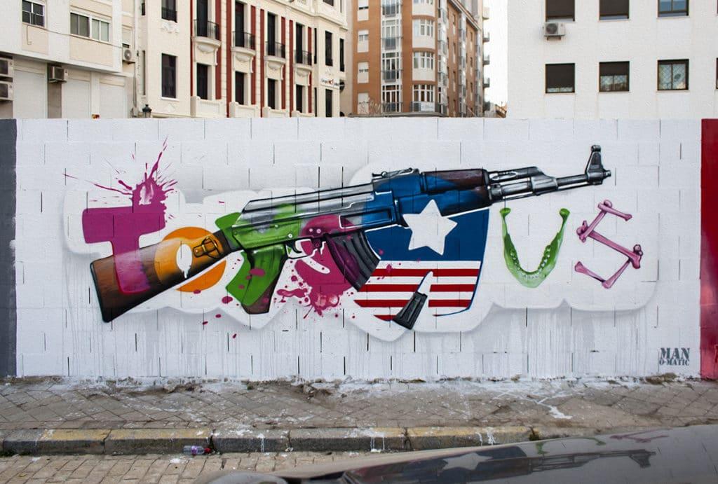 graffiti con critica social