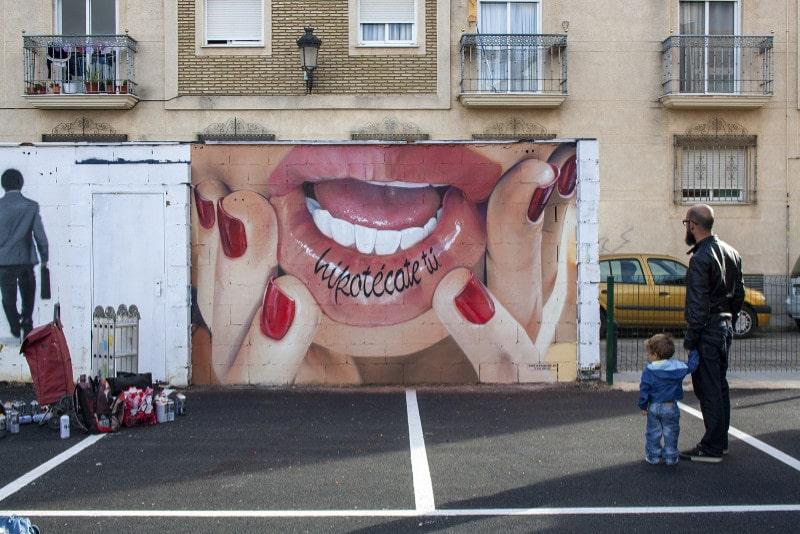 arte urbano en Huelva por Manomatic