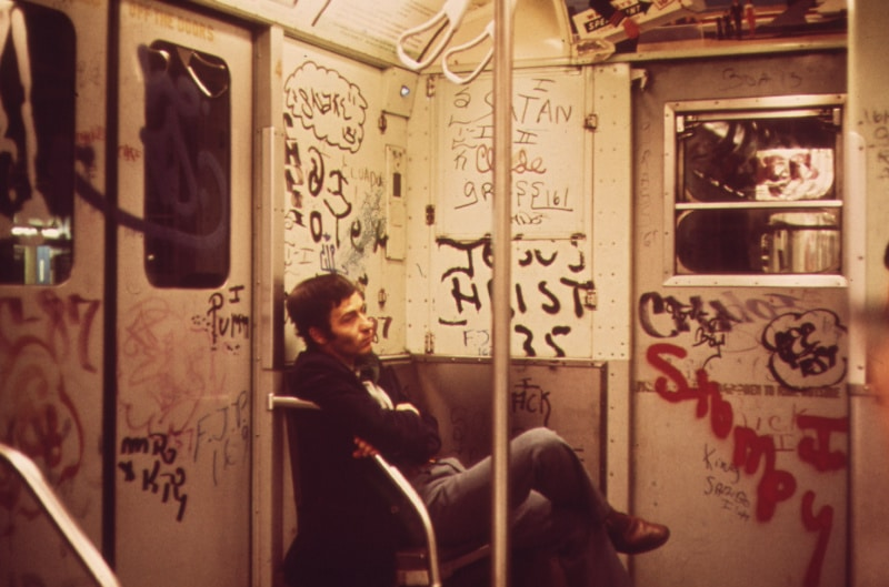 Graffiti en el metro de New York