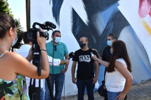 rueda de prensa del graffiti