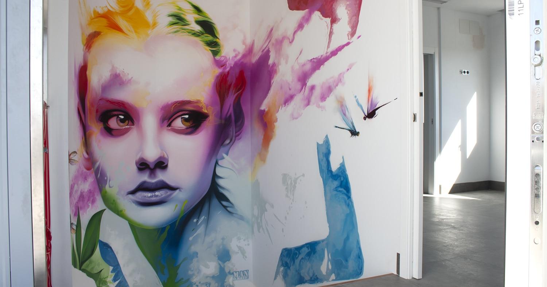 Graffiti en la decoración de interiores