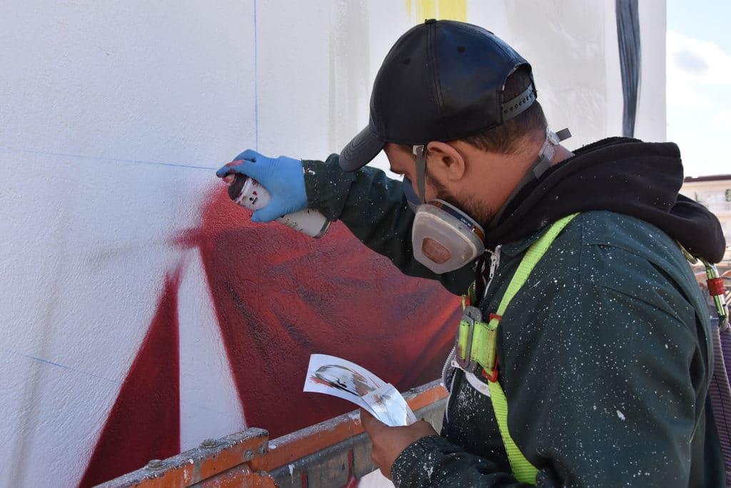 proceso creativo de street art por Manomatic