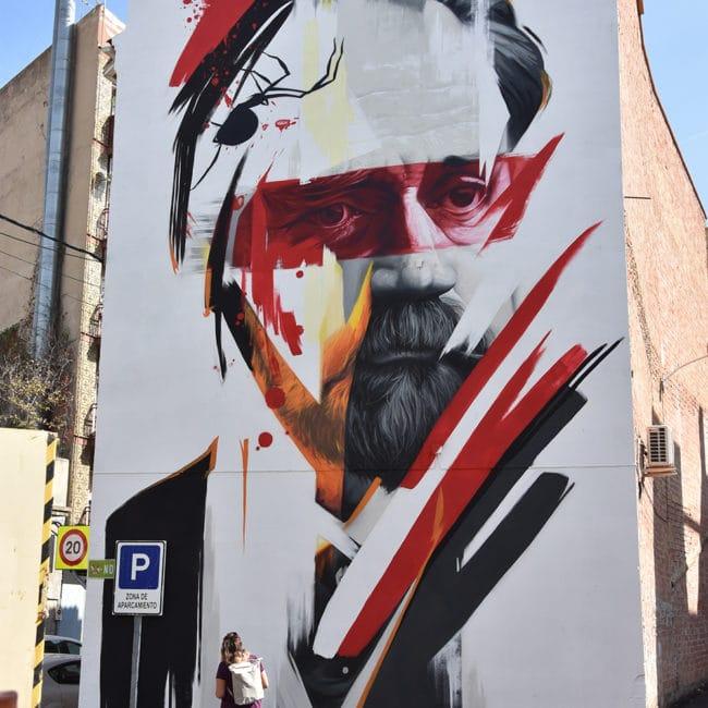 Vicente Blasco Ibáñez en Graffitea Cheste