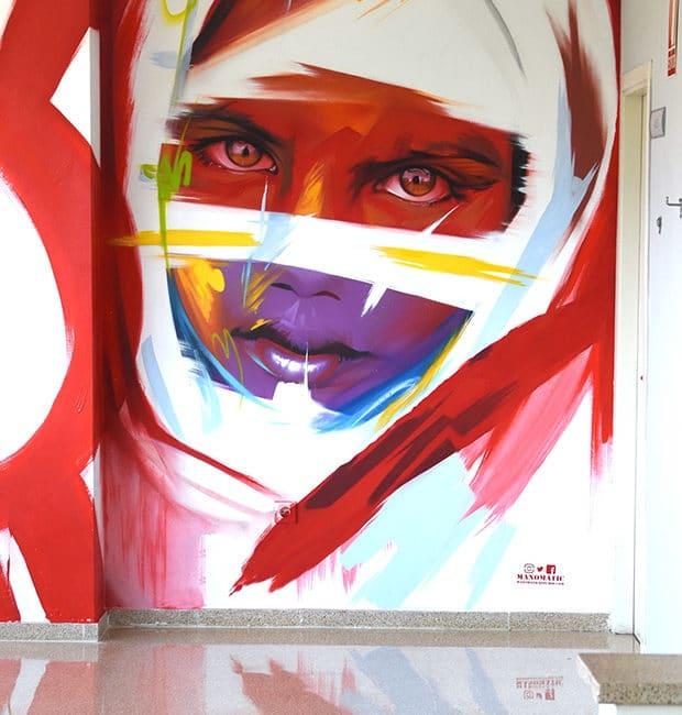 grafiti de manomatic en Huelva