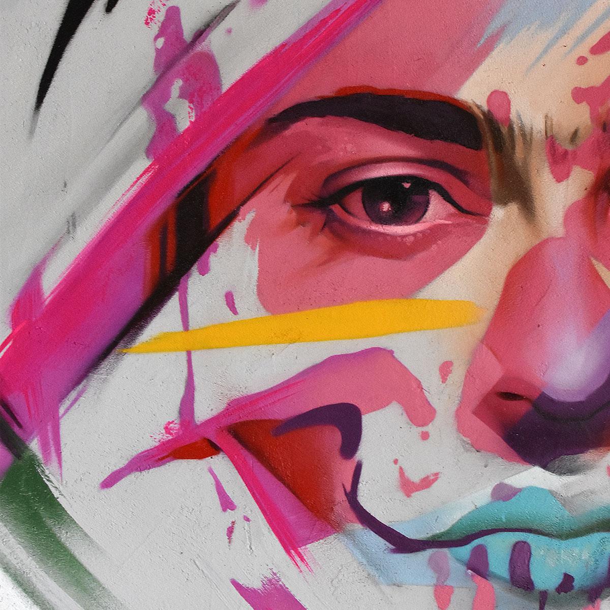streetart frida kahlo